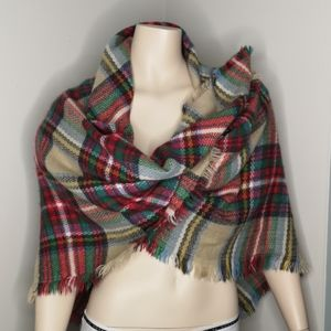 Memories Plaid Tartan Multi Use Scarf Wrap Shawl